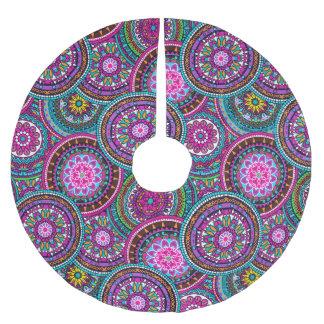 Bright Bohemian Boho Hippy Chic Pattern Brushed Polyester Tree Skirt