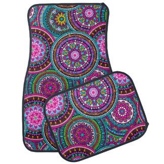 Bright Bohemian Boho Hippy Chic Pattern Car Mat