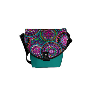 Bright Bohemian Boho Hippy Chic Pattern Courier Bag