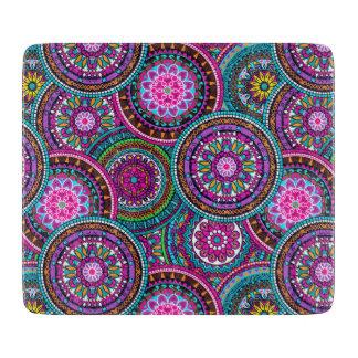 Bright Bohemian Boho Hippy Chic Pattern Cutting Board