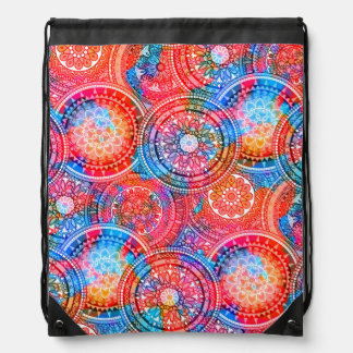 Bright Bohemian Boho Hippy Chic Pattern Drawstring Bag