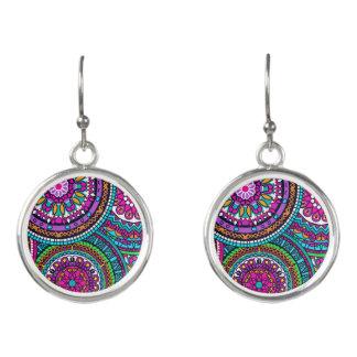 Bright Bohemian Boho Hippy Chic Pattern Earrings