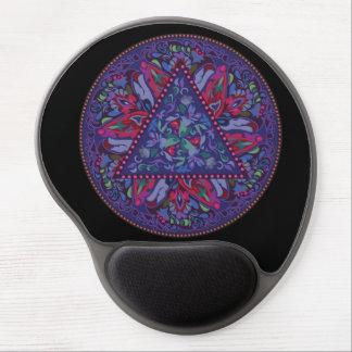 Bright Bohemian Boho Hippy Chic Pattern Gel Mouse Pad
