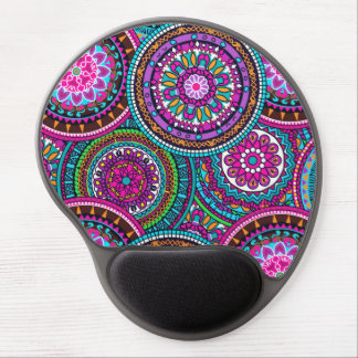 Bright Bohemian Boho Hippy Chic Pattern Gel Mouse Pad