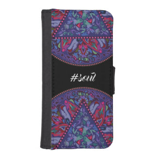 Bright Bohemian Boho Hippy Chic Pattern iPhone SE/5/5s Wallet Case