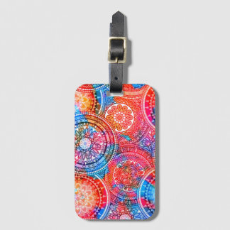 Bright Bohemian Boho Hippy Chic Pattern Luggage Tag