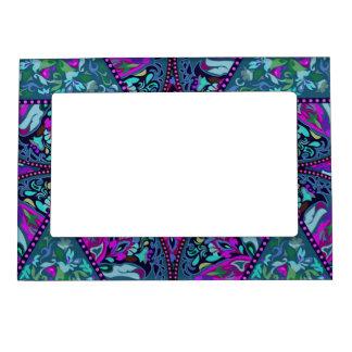 Bright Bohemian Boho Hippy Chic Pattern Magnetic Frame