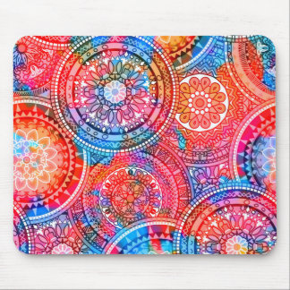 Bright Bohemian Boho Hippy Chic Pattern Mouse Pad