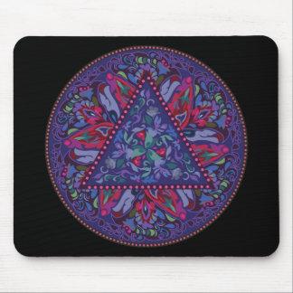 Bright Bohemian Boho Hippy Chic Pattern Mouse Pad