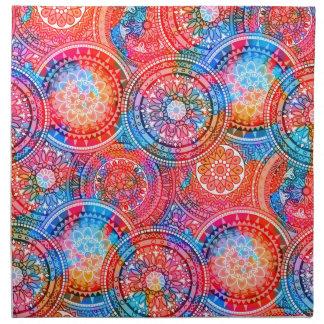 Bright Bohemian Boho Hippy Chic Pattern Napkin