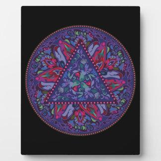Bright Bohemian Boho Hippy Chic Pattern Plaque