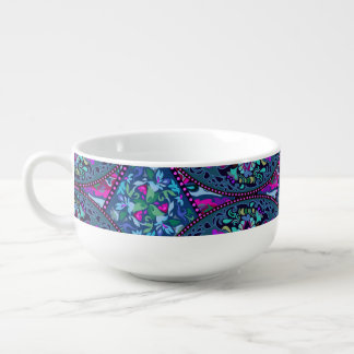 Bright Bohemian Boho Hippy Chic Pattern Soup Mug