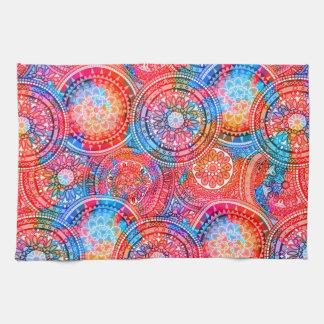 Bright Bohemian Boho Hippy Chic Pattern Tea Towel