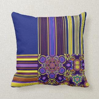 Bright Bohemian Boho Hippy Chic Pattern Throw Pillow