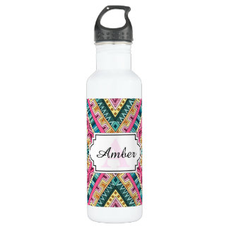 Bright Boho Colorful abstract tribal pattern 710 Ml Water Bottle