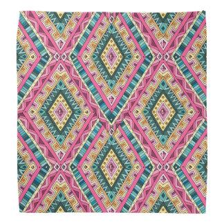 Bright Boho Colorful abstract tribal pattern Bandana