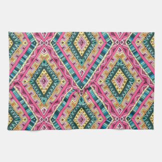 Bright Boho Colorful abstract tribal pattern Hand Towel