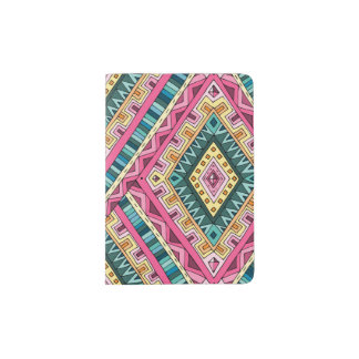 Bright Boho Colorful abstract tribal pattern Passport Holder