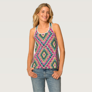 Bright Boho Colorful abstract tribal pattern Singlet