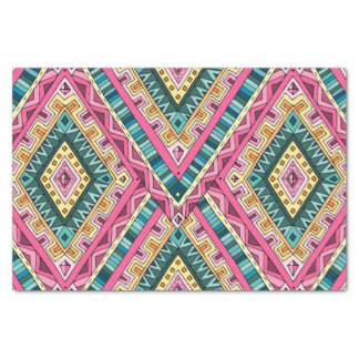 Bright Boho Colorful abstract tribal pattern Tissue Paper
