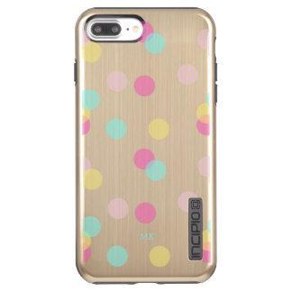 Bright Bokeh Confetti - Monogrammed Incipio DualPro Shine iPhone 8 Plus/7 Plus Case