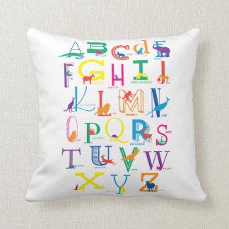 Bright, Bold Alphabet Design Cushion