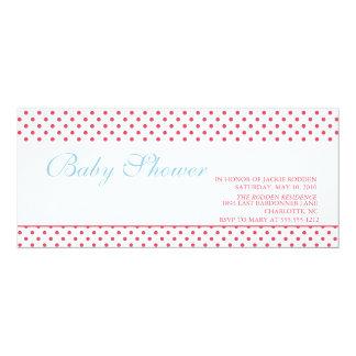 bright & bold baby shower 10 cm x 24 cm invitation card