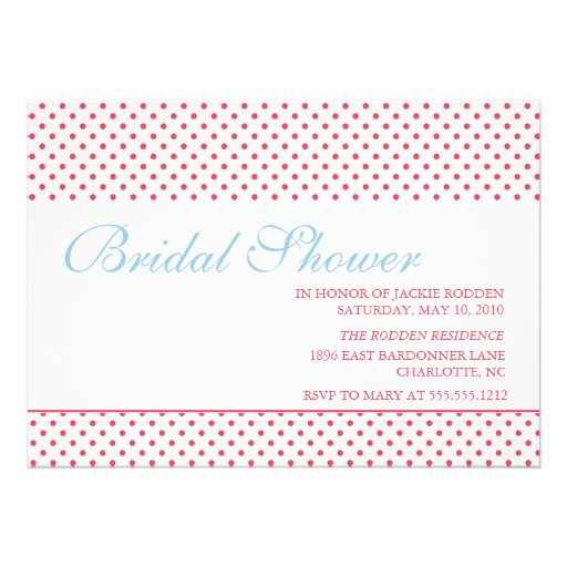 bright & bold bridal shower announcements