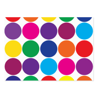 Bright Bold Colorful Rainbow Circles Polka Dots Pack Of Chubby Business Cards