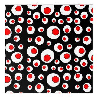 Bright Bold Geometric Design Red White Circles Acrylic Print