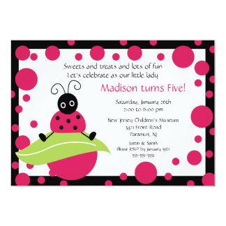 Bright & Bold Ladybug Birthday Invitation