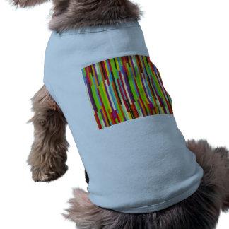 Bright Bold Multi-Colored Stripes Sleeveless Dog Shirt