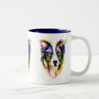 Bright Border Collie Mug