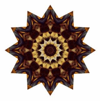 Bright Brown Star Photo Sculpture Magnet