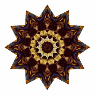 Bright Brown Star Acrylic Cut Outs