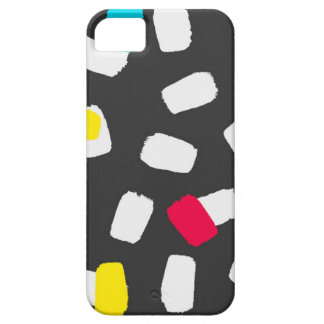 Bright Brushstrokes on Gray iPhone 5 Case