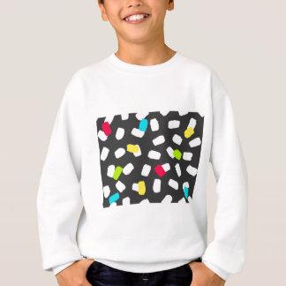 Bright Brushstrokes on Gray Sweatshirt