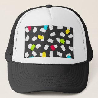 Bright Brushstrokes on Gray Trucker Hat