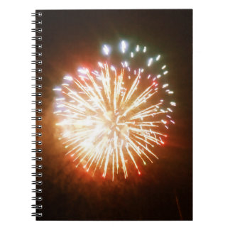 Bright Burst fireworks photo notebook
