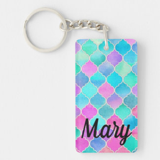Bright Busy Perky Eye-popping Colorful Custom Key Ring