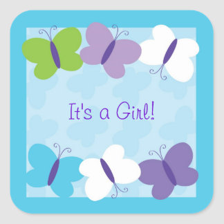 Bright Butterfly Envelope Seals Stickers