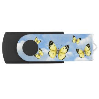 Bright Butterfly Swivel USB 2.0 Flash Drive