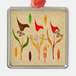 Bright Calla Lilly Watercolor Impression Metal Ornament