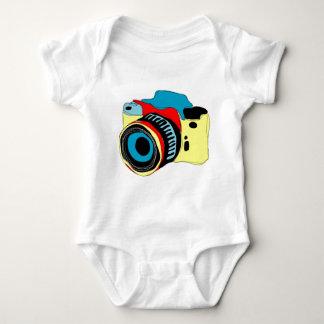 Bright camera illustration baby bodysuit