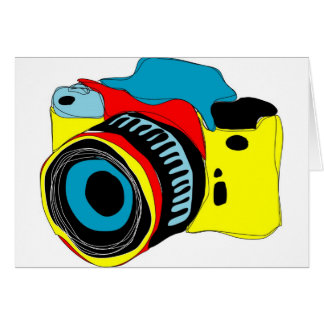 Bright camera illustration card