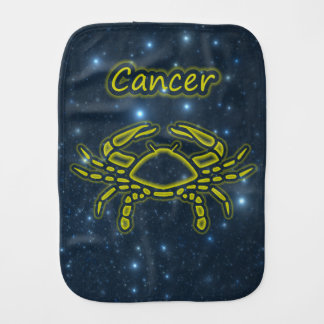 Bright Cancer Burp Cloth