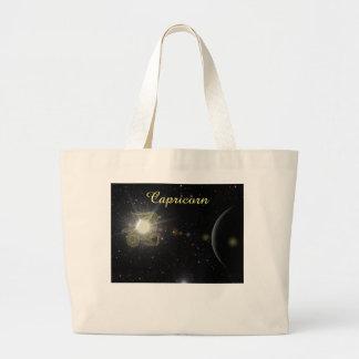 Bright Capricorn Large Tote Bag