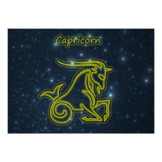 Bright Capricorn Poster
