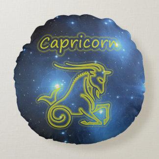 Bright Capricorn Round Cushion