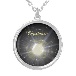 Bright Capricorn Silver Plated Necklace